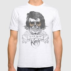 Elvis Presley   The King of the Living Dead Mens Fitted Tee Ash Grey SMALL
