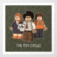 The Mini Crowd Art Print