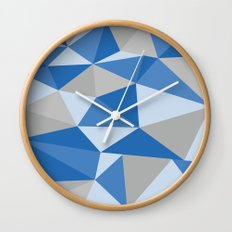 Blue & Gray Geometric Wall Clock