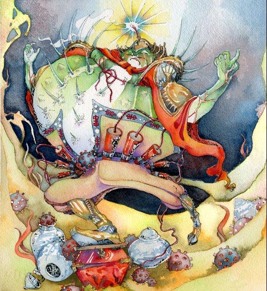 Ming Blowfish Art Print