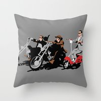 peewee rider. Throw Pillow