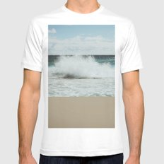 Wave SMALL Mens Fitted Tee White