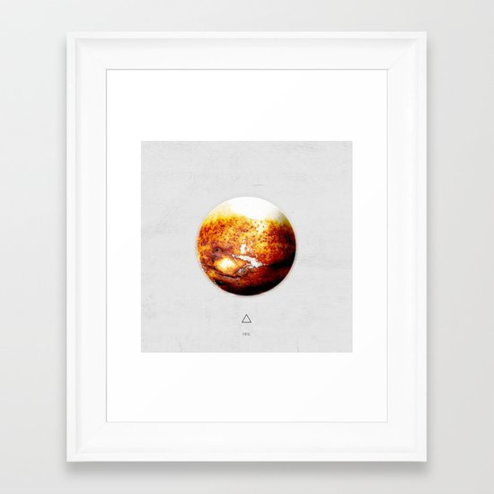 Element: Fire Framed Art Print