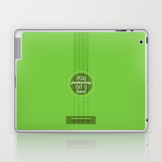 Stop pretending art is hard (green) Laptop & iPad Skin