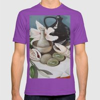 Kiwi Fruit & Lillies Mens Fitted Tee Ultraviolet SMALL
