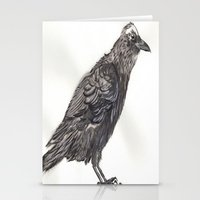 Watercolor Crow Stationery Cards