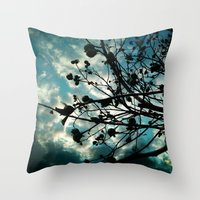 Buds And Branches Throw Pillow
