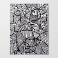 Black & White Abstract Canvas Print