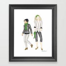 Fashion Journal: Day 8 Framed Art Print