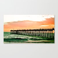 Hermosa Pier (1) Canvas Print