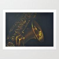 Paula's Saxophone Art Print