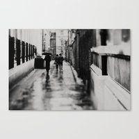 in black and white ...  Canvas Print