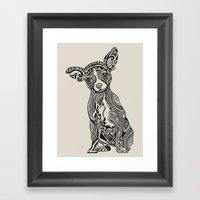 Polynesian Chihuahua Framed Art Print