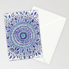 Indigo Flowered Mandala Stationery Cards