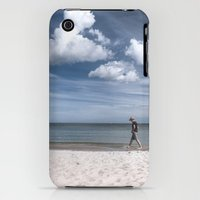iPhone 3Gs & iPhone 3G Cases featuring Lonely man at the beach by UtArt