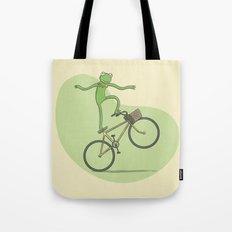 Ride On Kermit Tote Bag
