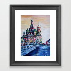 st petersburg  with church of the savior on blood Framed Art Print