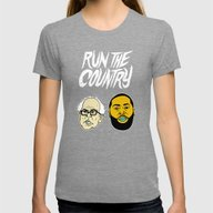 Run The Country Womens Fitted Tee Tri-Grey X-LARGE
