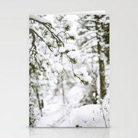 Snowy Branch Stationery Cards