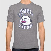 Mario: It's hard to look right at ya baby! Mens Fitted Tee Tri-Grey SMALL