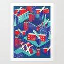 Isometric X city Art Print
