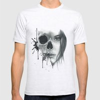 Zombie Mens Fitted Tee Ash Grey SMALL