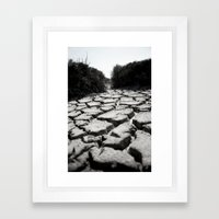 Mud Cracks Framed Art Print