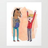 Bojack and Todd Art Print
