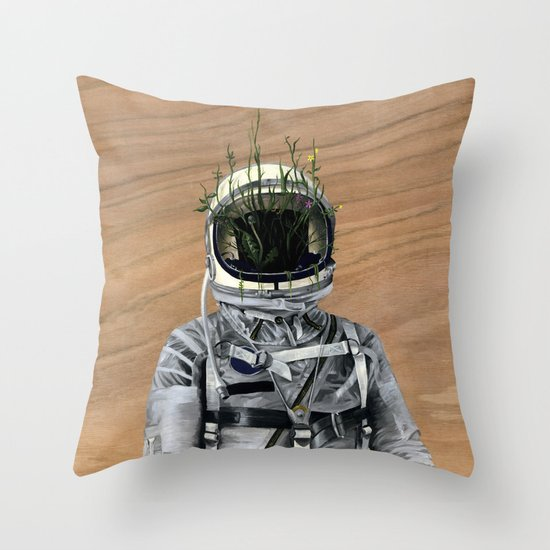 Cacti | Spaceman No:1 Throw Pillow