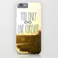 iPhone & iPod Case featuring You Only Live Forever by Valerie Bee
