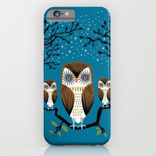 Three Lazy Owls iPhone & iPod Case