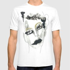 confusion White SMALL Mens Fitted Tee