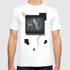 Evening Grass SMALL White Mens Fitted Tee