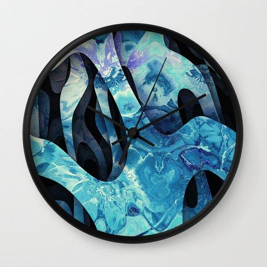 Frozen flowers Wall Clock