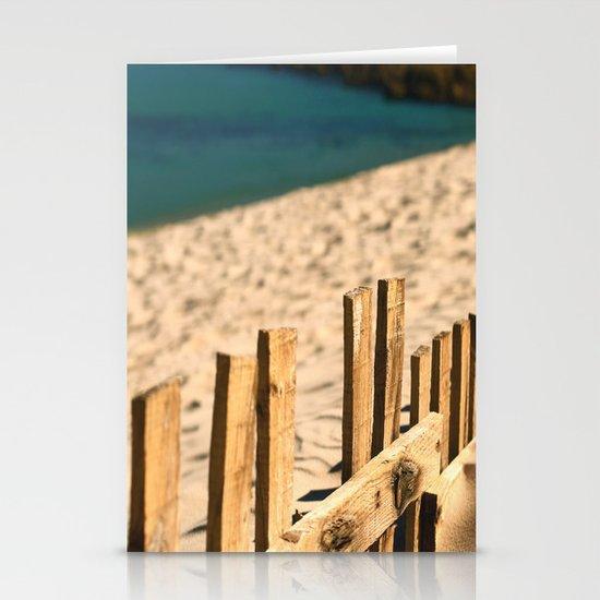 Fence beach Stationery Card
