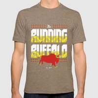 The Running Buffalo Mens Fitted Tee Tri-Coffee SMALL
