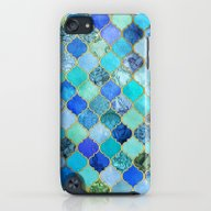 Cobalt Blue, Aqua & Gold… iPod touch Slim Case