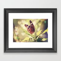 Butterfly Kisses Framed Art Print