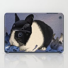 Blue Biker Bunny Print iPad Case