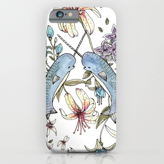 Narwhal pattern iPhone & iPod Case