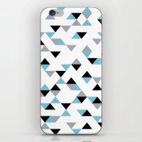 Triangles Ice Blue iPhone & iPod Skin