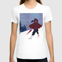 Walking On Snow Womens Fitted Tee White SMALL