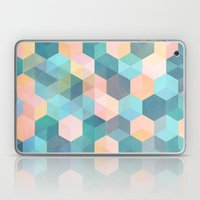 Child's Play 2 - hexagon pattern in soft blue, pink, peach & aqua Laptop & iPad Skin