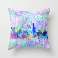 Philadelphia City Skylin… Throw Pillow
