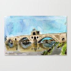 danse sur le pont Canvas Print