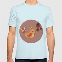 Talking Bird Mens Fitted Tee Light Blue SMALL