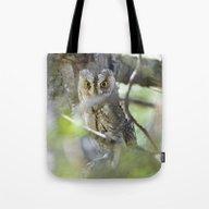 Small Scops Owl. Misteri… Tote Bag