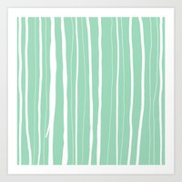 Vertical Living Mint Art Print