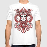 Red Serpent Queen Mens Fitted Tee White SMALL