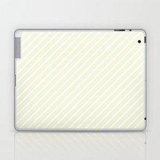Diagonal Lines (White/Beige) Laptop & iPad Skin